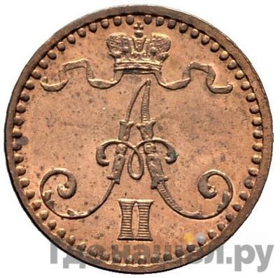Реверс 1 пенни 1865 года Для Финляндии