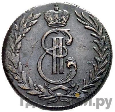Аверс 5 копеек 1772 года КМ Сибирская монета