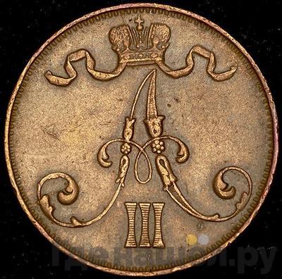 Реверс 5 пенни 1889 года  Для Финляндии