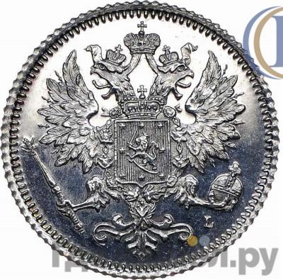 Реверс 25 пенни 1891 года L Для Финляндии