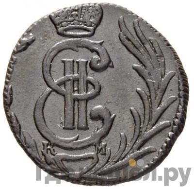 Аверс Полушка 1776 года КМ Сибирская монета