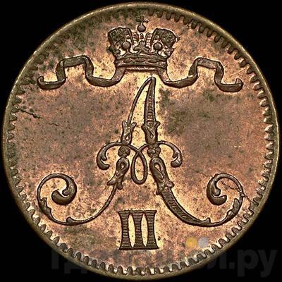 Реверс 1 пенни 1884 года Для Финляндии