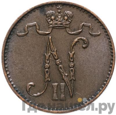 Реверс 1 пенни 1906 года Для Финляндии