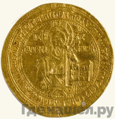 Аверс Жалованный золотой 1645 года  - 1676 Алексей Михайлович Иисус