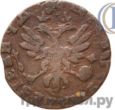 Реверс Полушка 1714 года