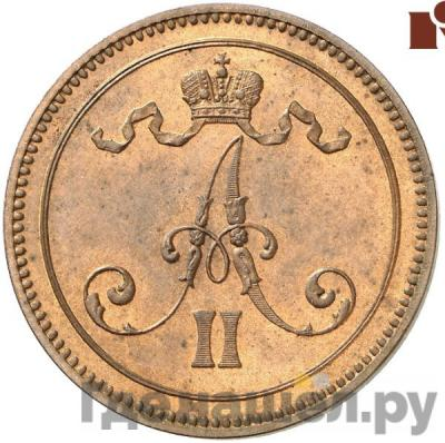Реверс 10 пенни 1865 года Для Финляндии