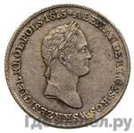 Реверс 1 злотый 1830 года FH Для Польши