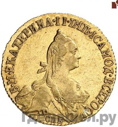 Аверс 5 рублей 1771 года СПБ
