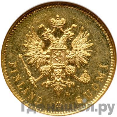 Реверс 20 марок 1904 года L Для Финляндии