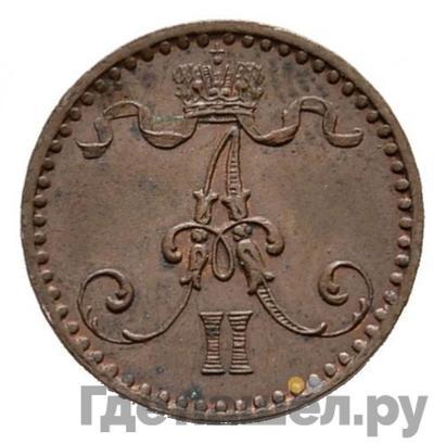1 пенни 1867 года  Для Финляндии