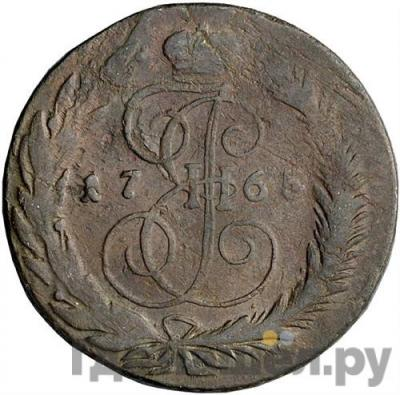 Аверс 5 копеек 1765 года СМ