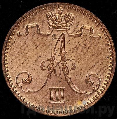 1 пенни 1892 года  Для Финляндии