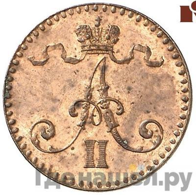 1 пенни 1864 года  Для Финляндии