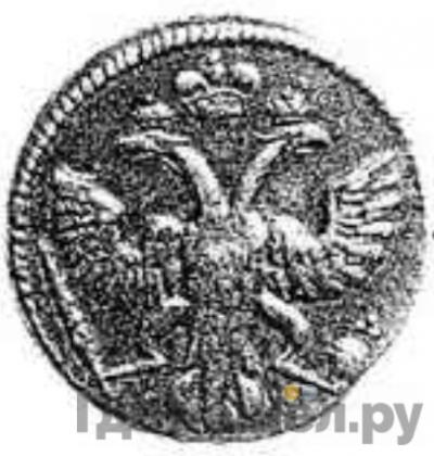 Реверс 1 грош 1724 года  Пробный