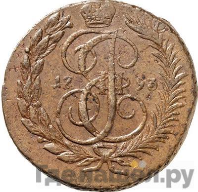 Аверс 2 копейки 1793 года ЕМ Павловский перечекан
