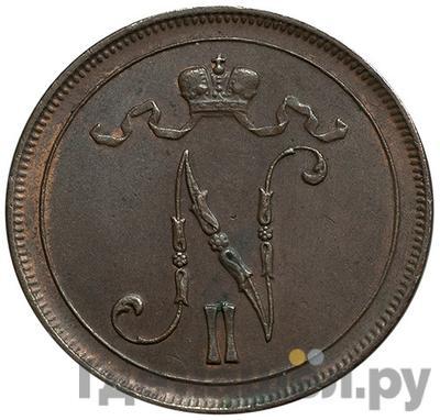 Реверс 10 пенни 1913 года  Для Финляндии