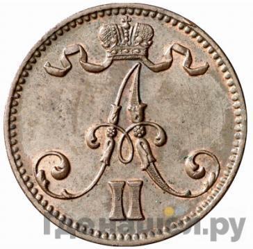 Реверс 5 пенни 1866 года  Для Финляндии