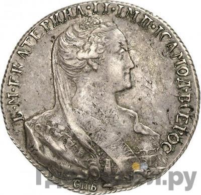 Аверс 1 рубль 1766 года СПБ ЯI Пробный, Особый портрет