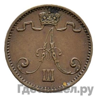 Реверс 1 пенни 1882 года Для Финляндии