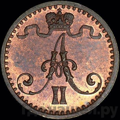 1 пенни 1871 года  Для Финляндии