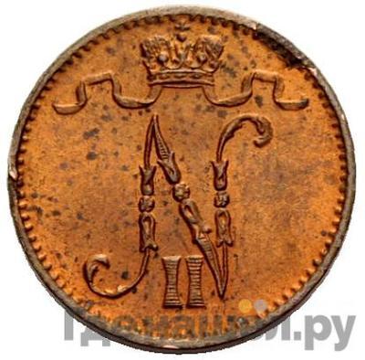 Реверс 1 пенни 1911 года  Для Финляндии