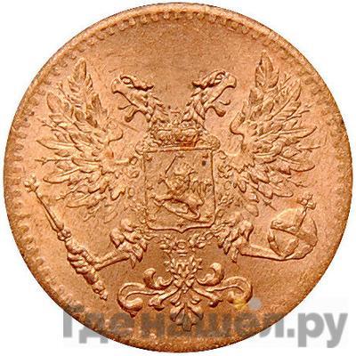 Реверс 1 пенни 1917 года Для Финляндии