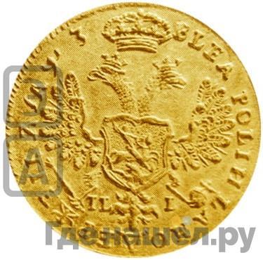 Реверс Червонец 1707 года IL-L