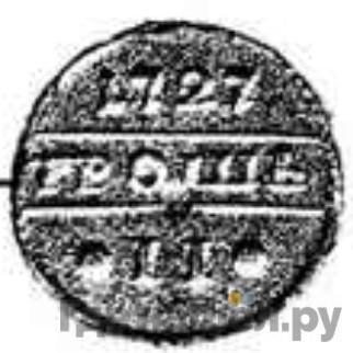 Аверс 1 грош 1727 года  Пробный, В серебре