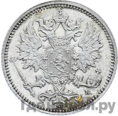 Реверс 25 пенни 1889 года L Для Финляндии