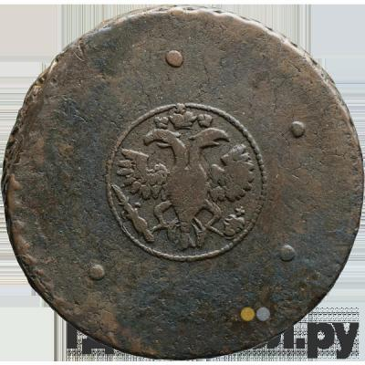 Реверс 5 копеек 1724 года