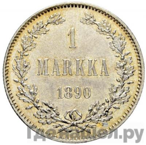 1 марка 1890 года L Для Финляндии