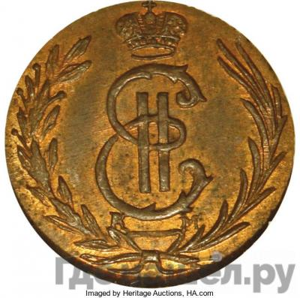 Аверс Полушка 1772 года КМ Сибирская монета   Новодел