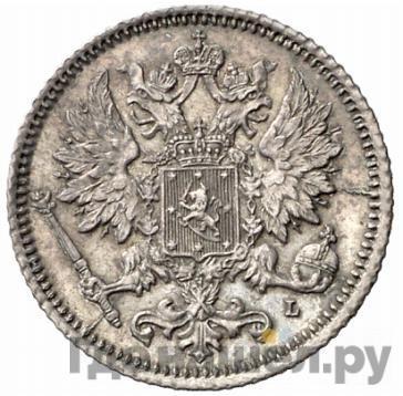 Реверс 25 пенни 1890 года L Для Финляндии