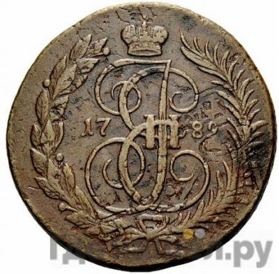 Аверс 2 копейки 1789 года ММ