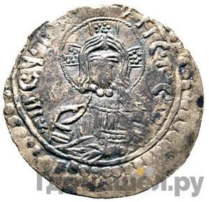 Аверс Сребренник 980 года - 1015 Владимир Святославович Иисус Христос