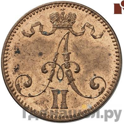 5 пенни 1865 года  Для Финляндии