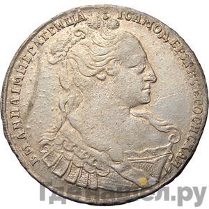 Аверс Полтина 1734 года  Лирический портрет