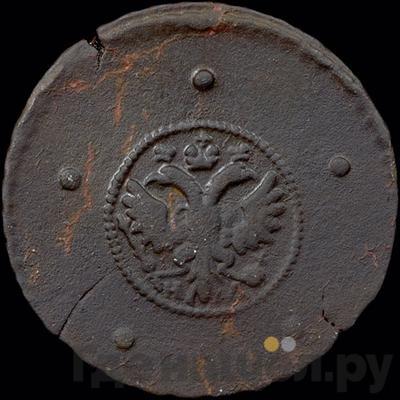 Реверс 5 копеек 1727 года НД   Ошибочная дата 1721