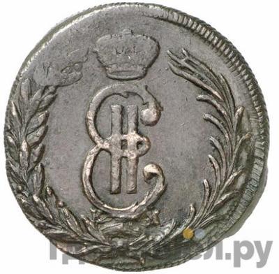 Аверс 2 копейки 1771 года КМ Сибирская монета