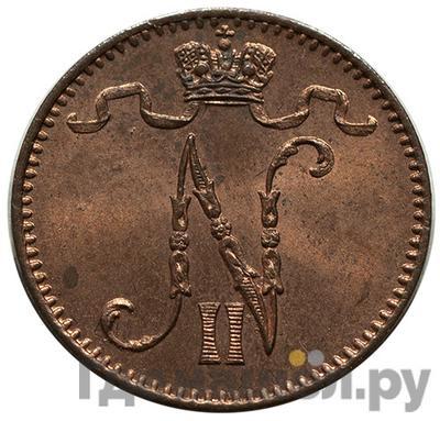 Реверс 1 пенни 1898 года Для Финляндии