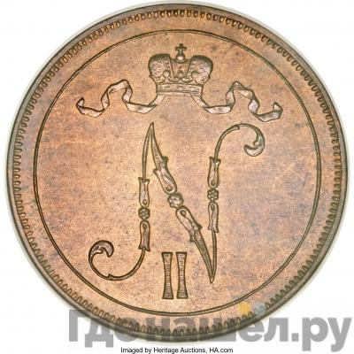 Реверс 10 пенни 1900 года Для Финляндии