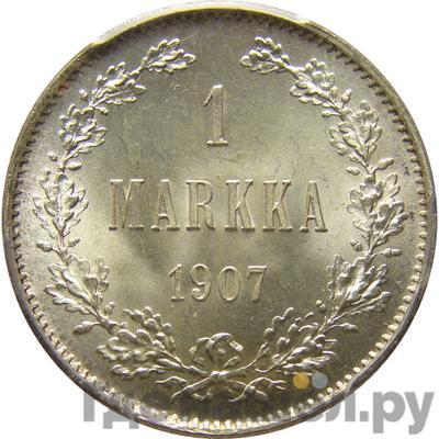 Аверс 1 марка 1907 года L Для Финляндии