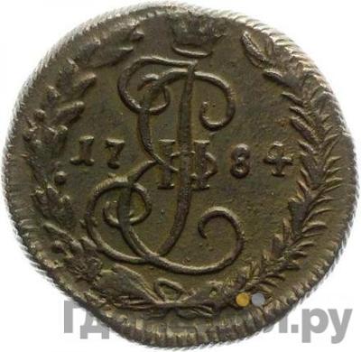Аверс Денга 1784 года КМ