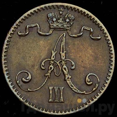 Реверс 1 пенни 1888 года Для Финляндии