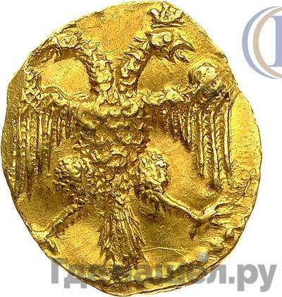 Реверс Жалованный золотой 1613 года  - 1645 Михаил Федорович Легенда