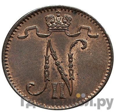Реверс 1 пенни 1900 года Для Финляндии
