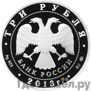 Реверс 3 рубля 2013 года ММД Год охраны окружающей среды
