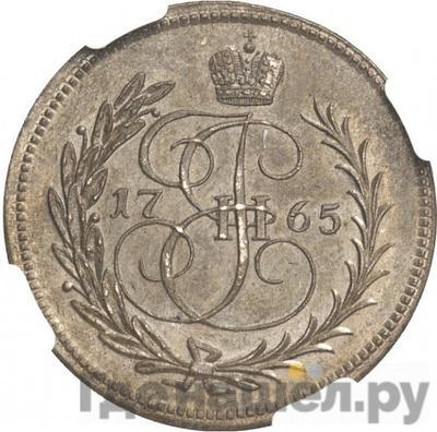 Аверс Денга 1765 года