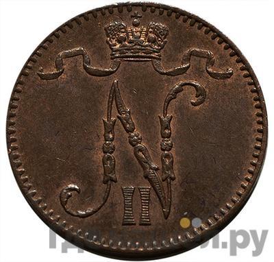 Реверс 1 пенни 1895 года  Для Финляндии