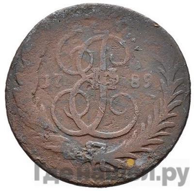 Аверс 1 копейка 1789 года ММ